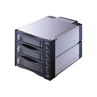 """""""2 x 5.25"""""""" bay for 3 HDD Black"""""""